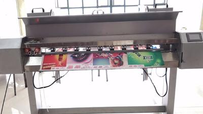 六渡多功能裁切打扣机参加文化节,成为第七届喷绘赞助商之一